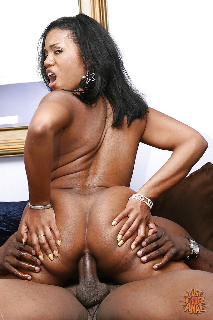 Ebony anal riding