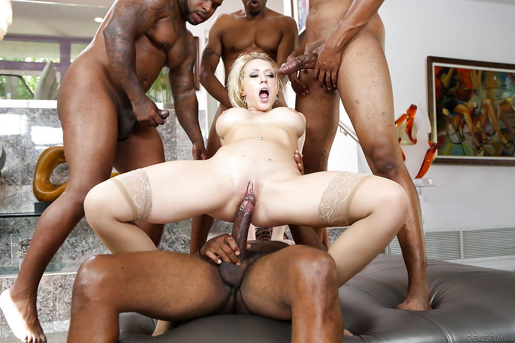 Fat girl enjoy black cock