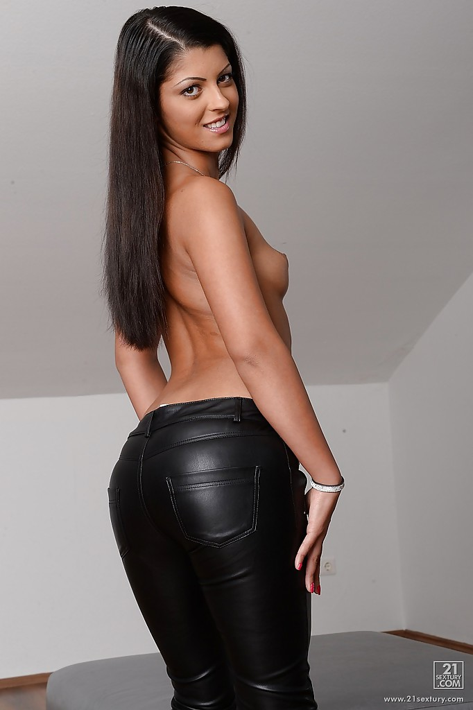Women wearing leather pants topless pic of understand