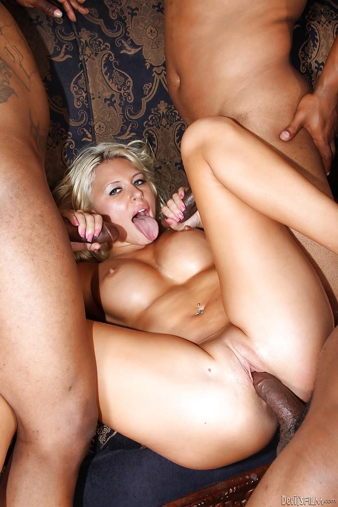 Interesting big titted blonde interracial sex excellent
