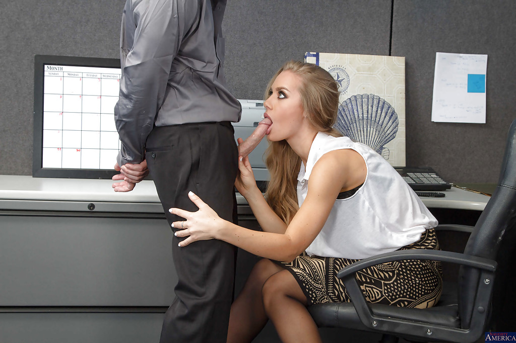 Blowjob in office