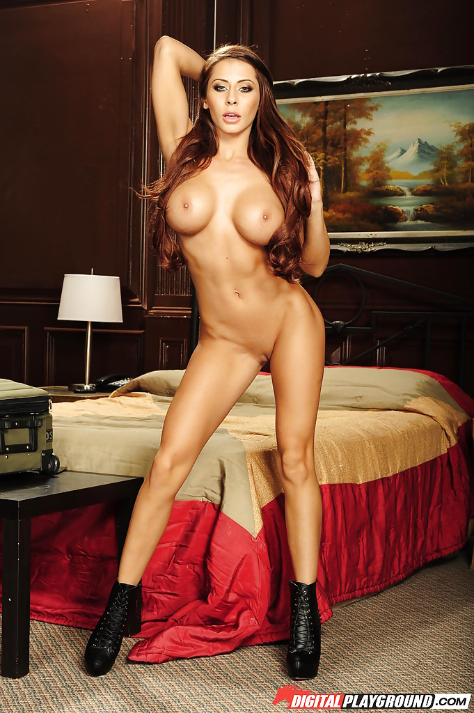 Madison Leggings Porn - ... Long-haired tanned babe Madison Ivy shows her sweet slender body ...