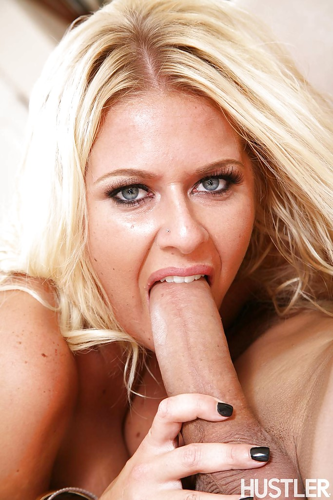 Beautiful blonde blowjob