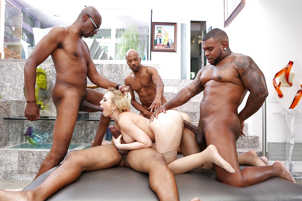 ... Beauty blonde Kagney Lynn Karter is fucking in interracial scene ...