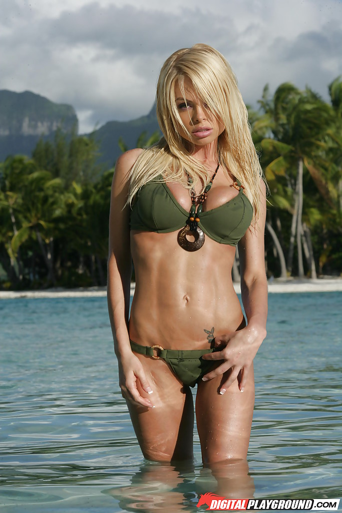 Sweetie bleached-blond Jesse Jane poses with undressed hangers in the ocean porn photo #323401386 | Digital Playground, Jesse Jane, Babe, Beach, Big Tits, Bikini, Blonde, MILF, Outdoor, Wet, mobile porn