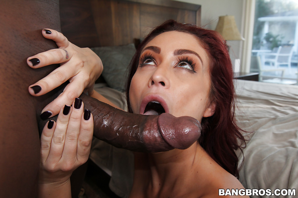 Sexy redhead swallows bbc and more