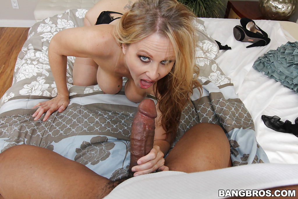 Hot milf takes black cock