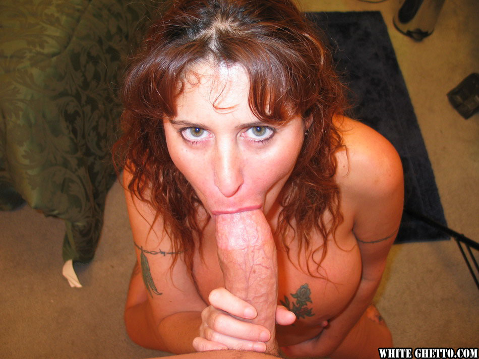 Redhead milf gives great bj