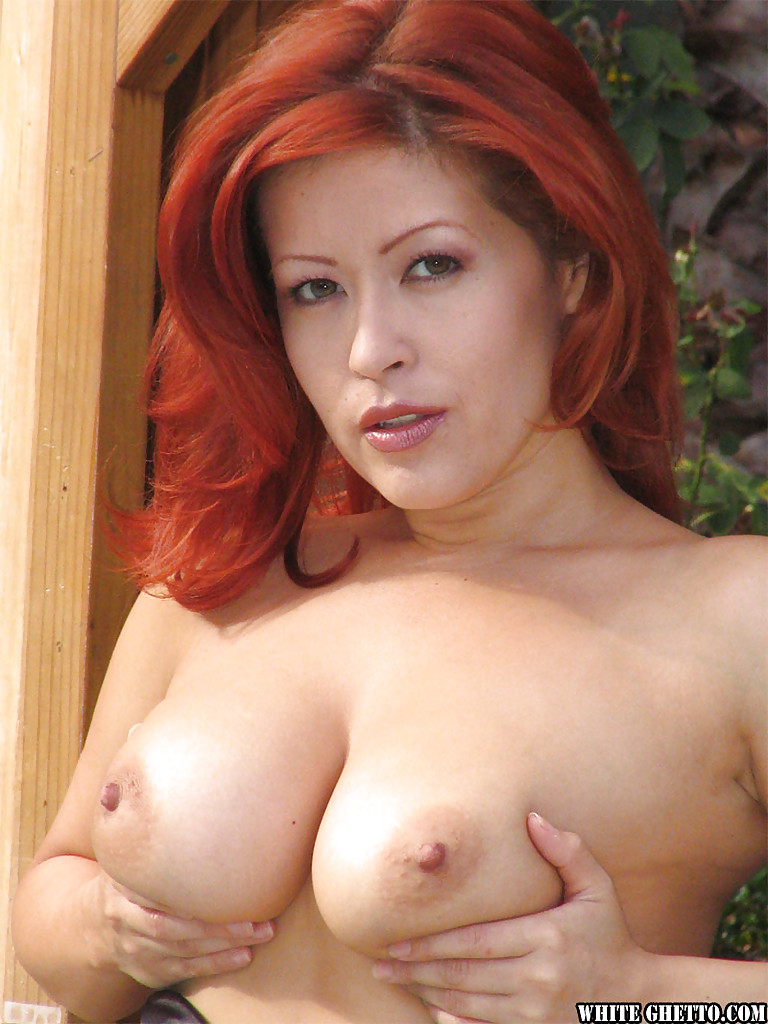 Pornstar with red hair nude