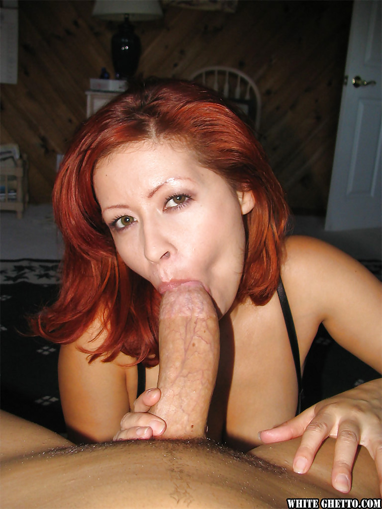 Red head giveing blow job, nude woman grope