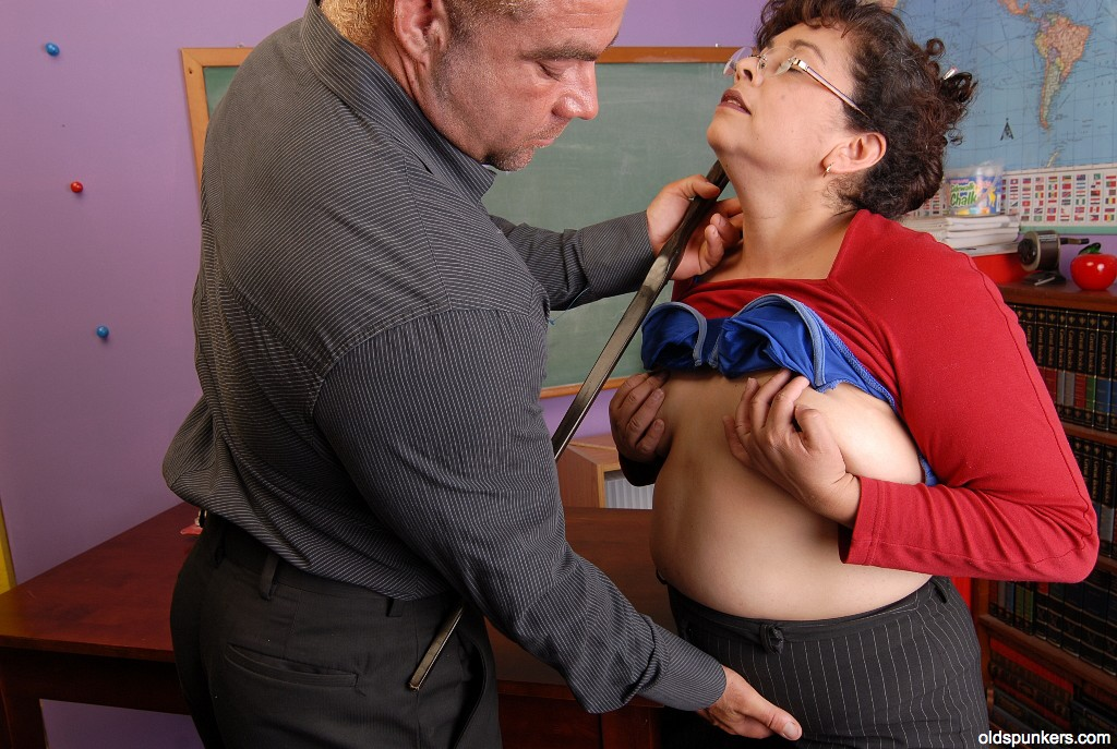Mature forced blowjob