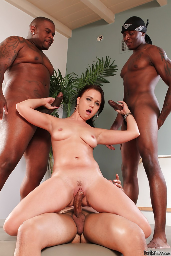Bang brunette gang interracial movie — photo 15