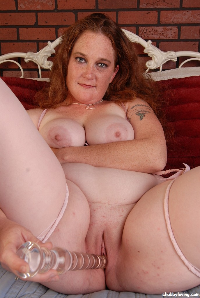 Mature fattie dildo