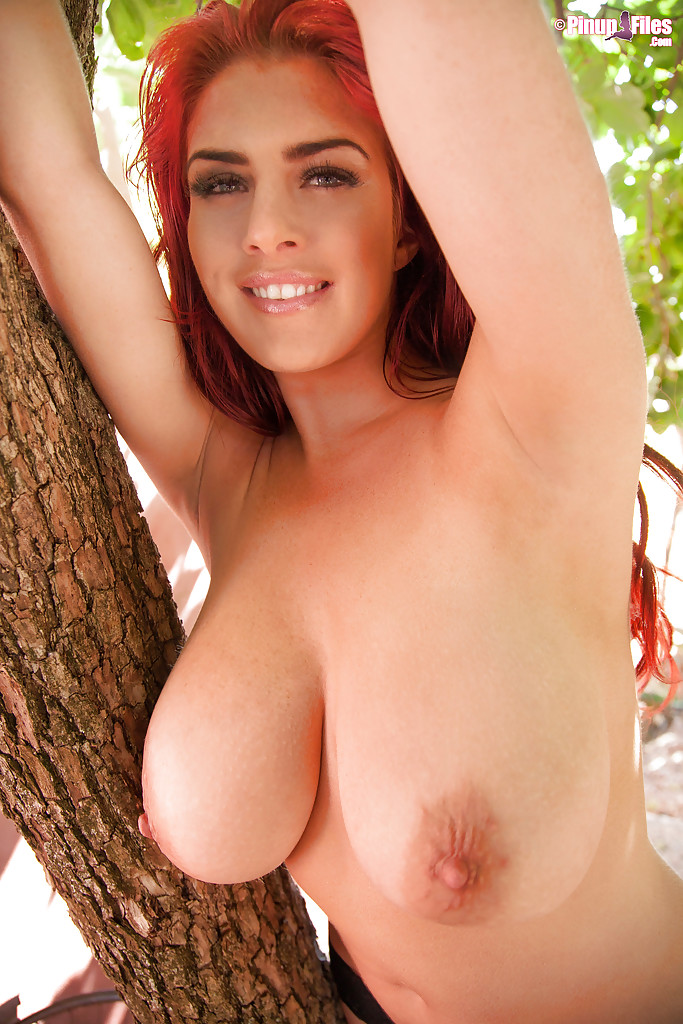 Wife backyard naked