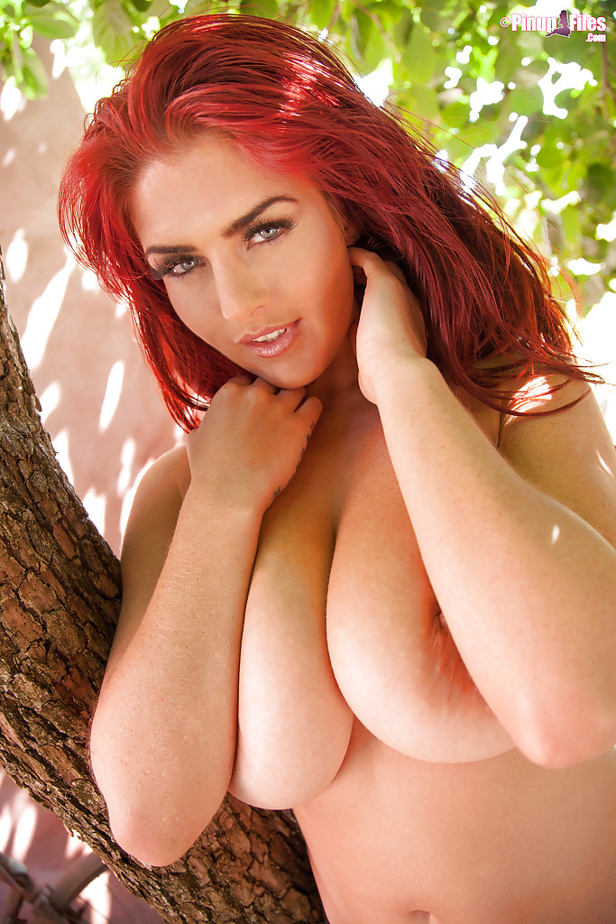 Redhead huge boobs