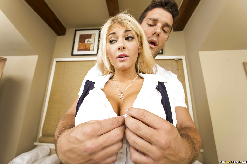 image Sweet blonde fucking hard with boyfriend