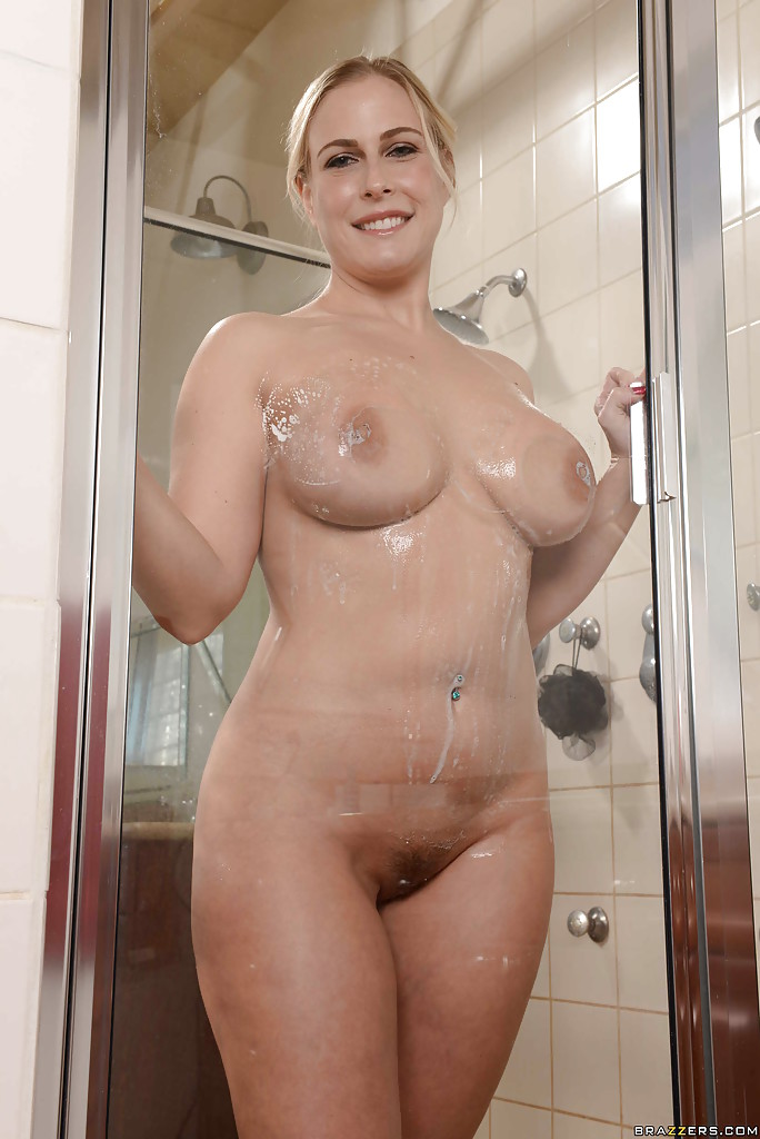 blonde shower porn