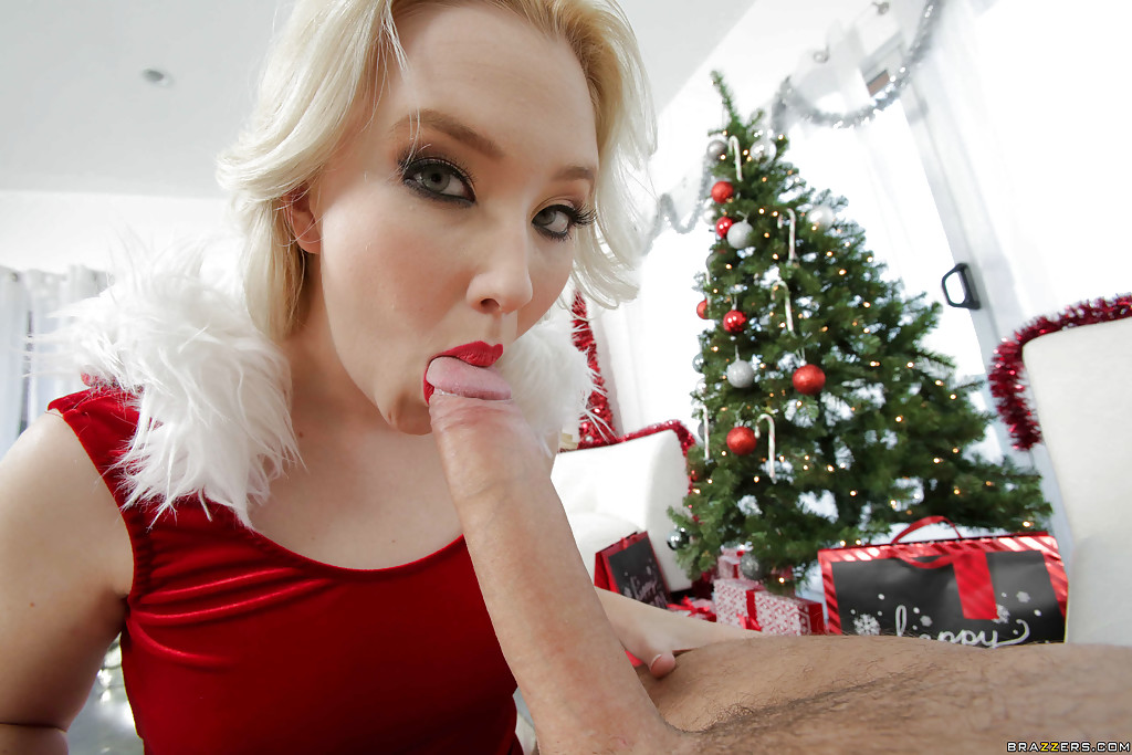 Christmas dick sucking