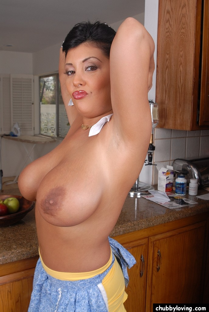Large natural boobs mature