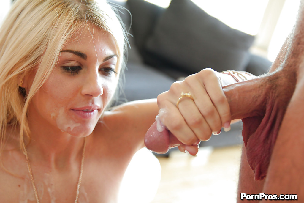 Missy gives dad blowjob and swallows cum