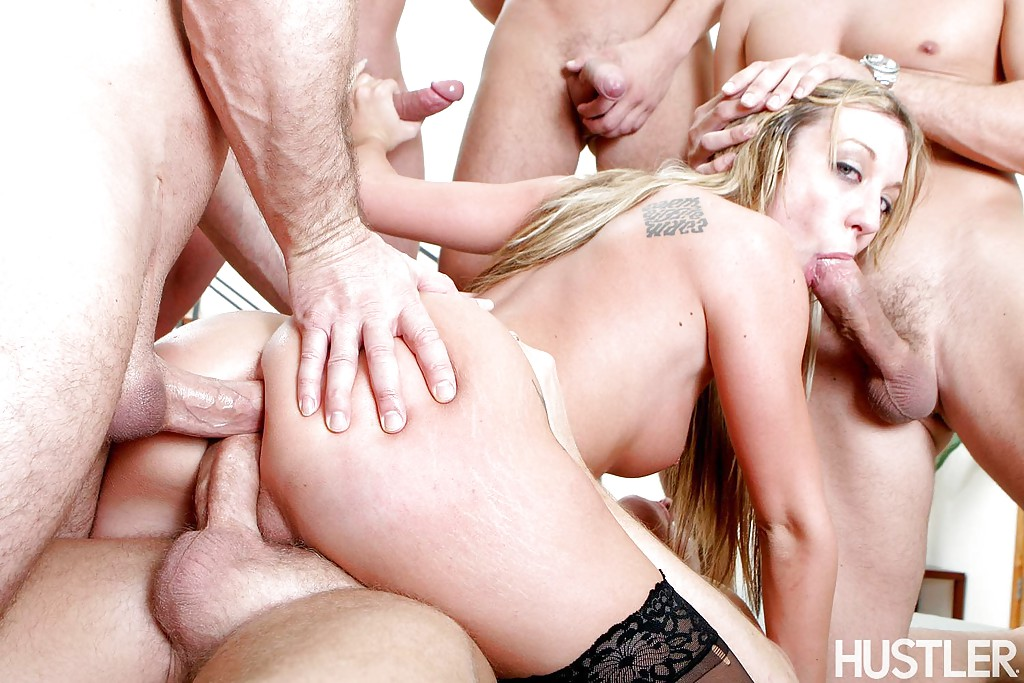 Amy brooke in triple penetrated position 2