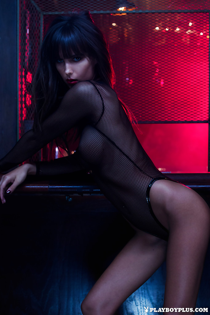 Centerfold babe Brittny Ward poses in her stunning black ...