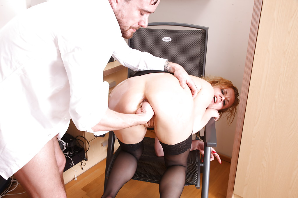 image European office skank booty spank