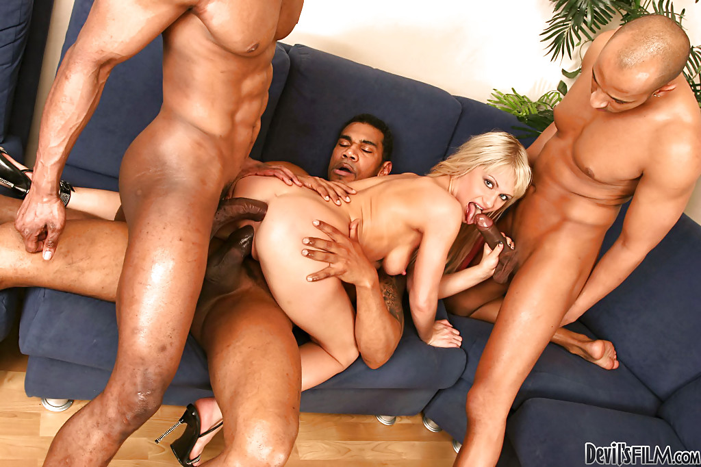 Photo anita blonde double penetration