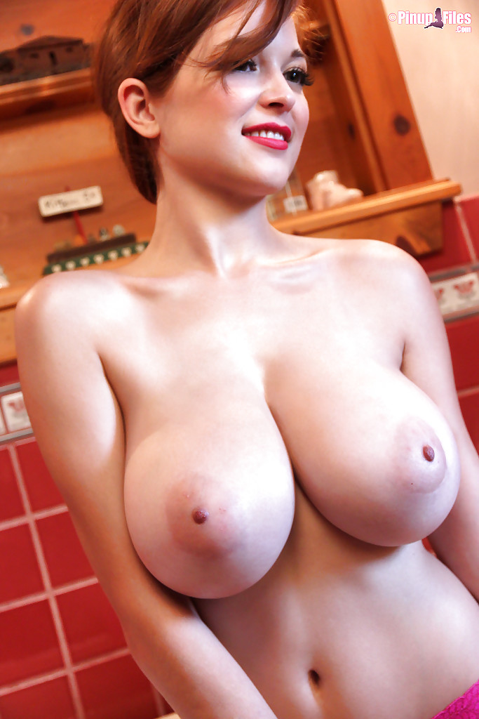 Big tit red head
