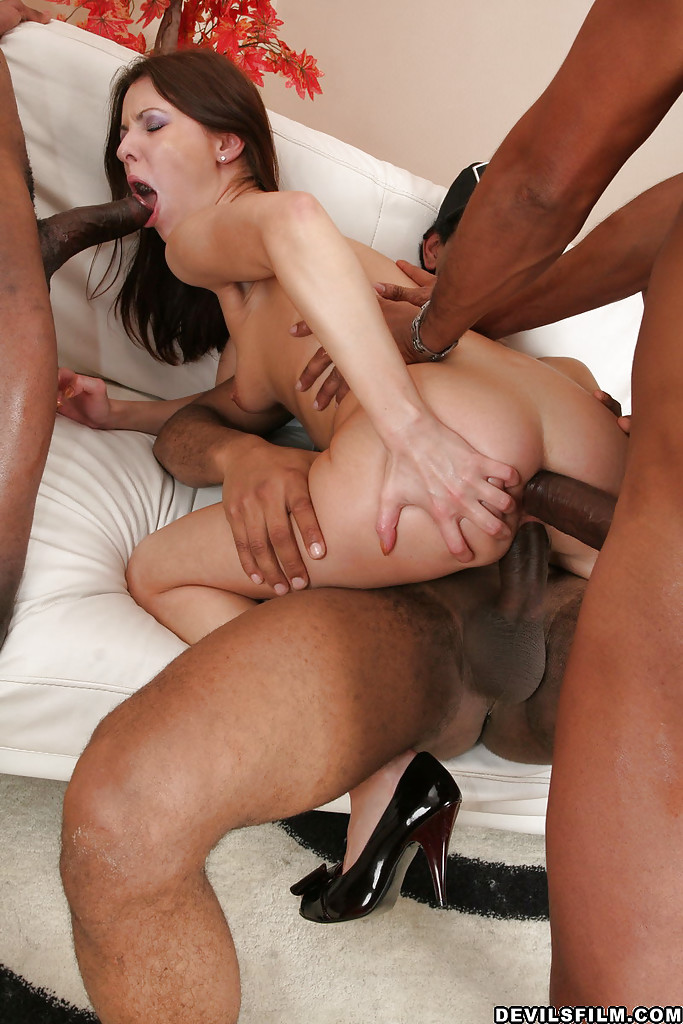 Big Booty Interracial Gangbang