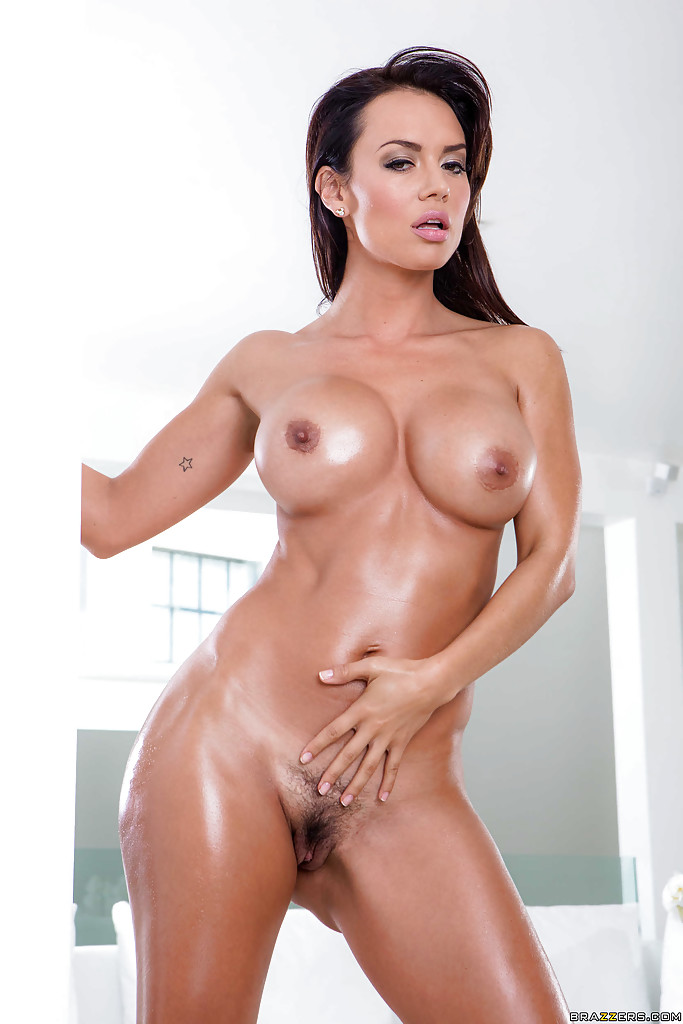 Busty wet oiled latina tits ass