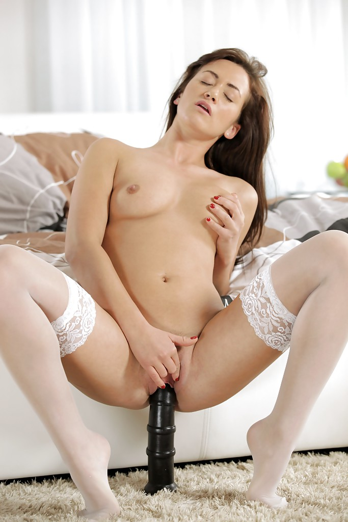 naked babe riding dildo