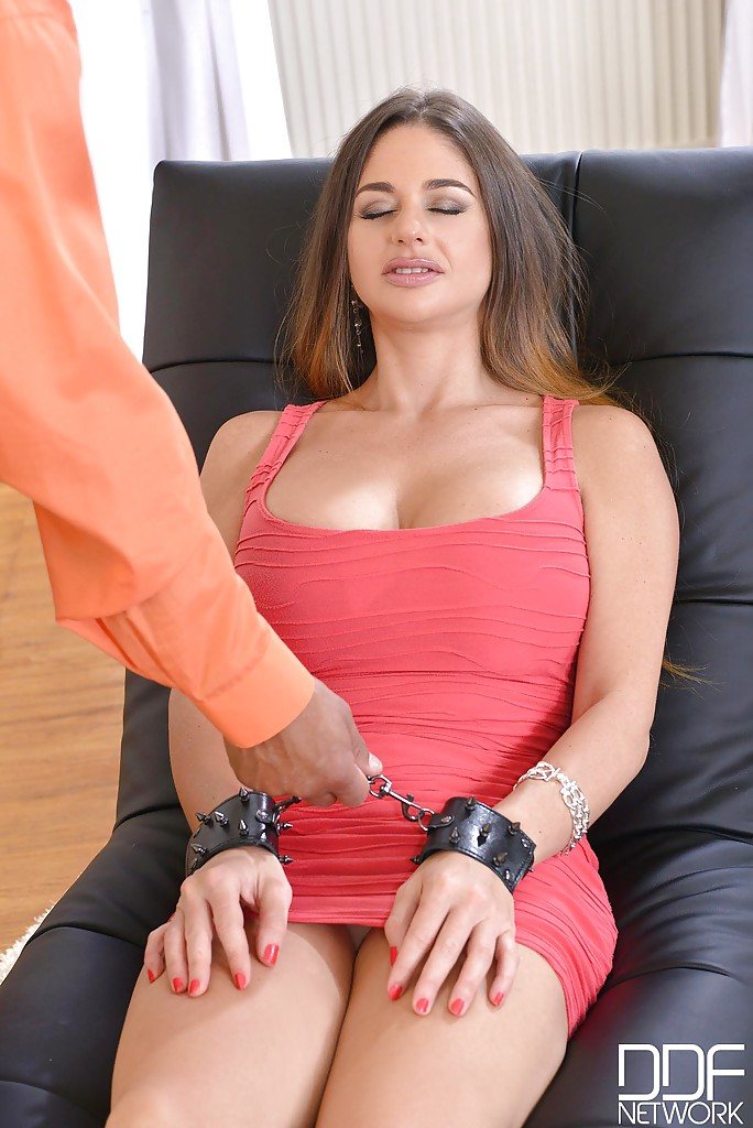 ... MILF Cathy Heaven is forced to deepthroat a large black cock ...