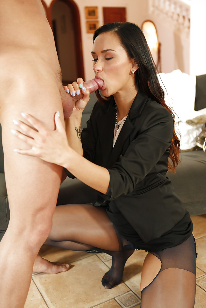 Almost Naked female sex at the office have