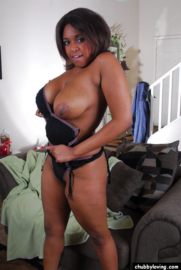 playing tits Ebony with her