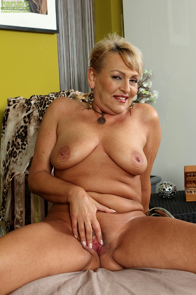 from Reuben large mature woman playing with her cookie
