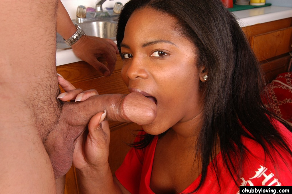 Ebony Chick White Dick Blowjob
