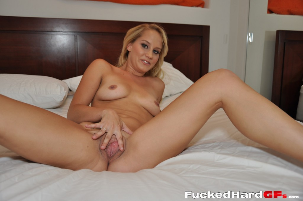Tempting young amateur Liyla shoots herself as she plays with her cunt