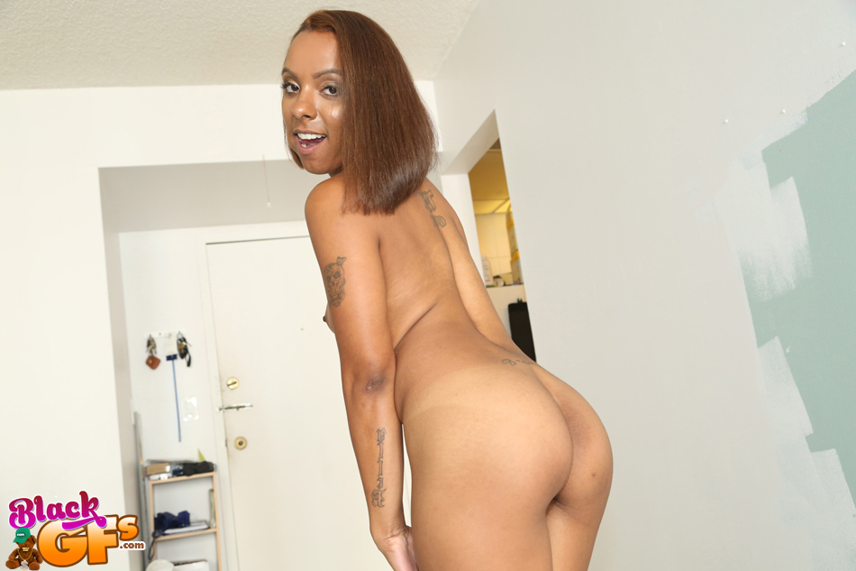... First time ebony girl Bailey Banks masturbating her shaved black pussy  ...