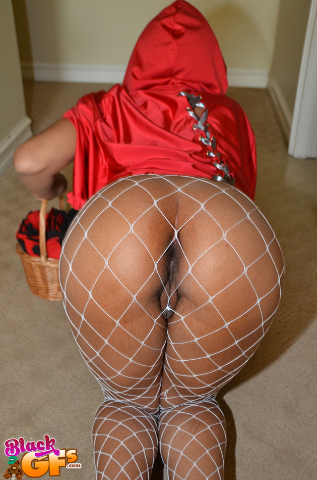 Ebony fishnet stockings