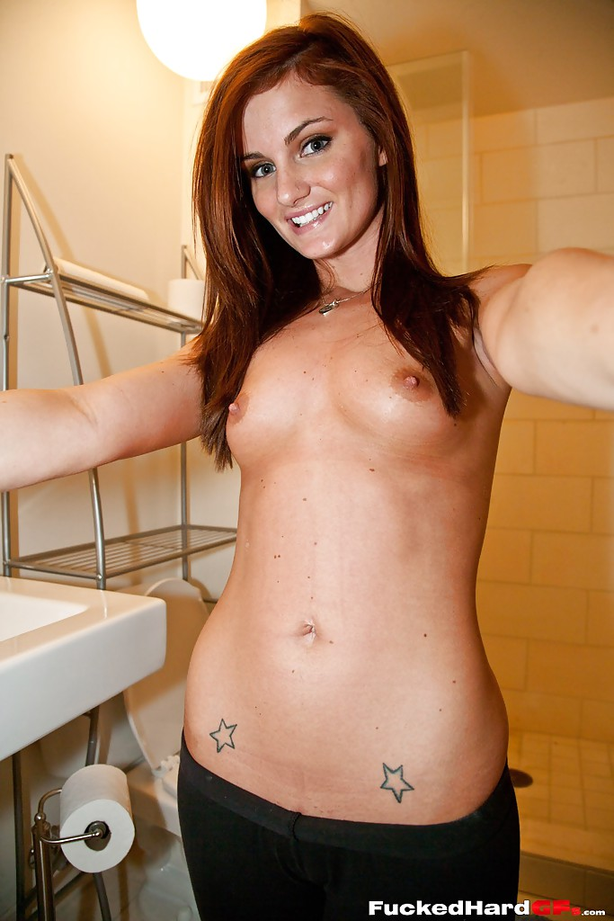 Hot girl masturbates while takinga shower