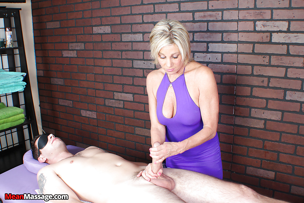 Big tits mature massage