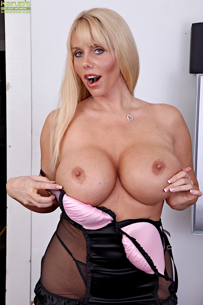 Hot Blonde Big Tits Lingerie