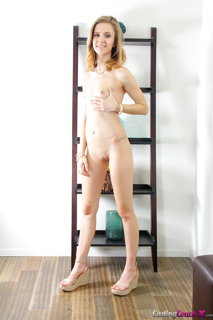 Young blonde girl naked
