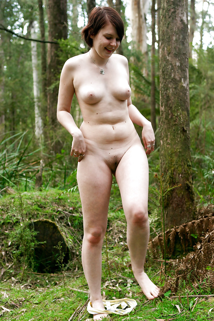 nude chubby amateur outdoors