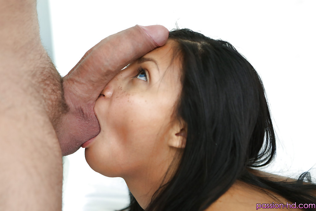Sucking balls cum on face