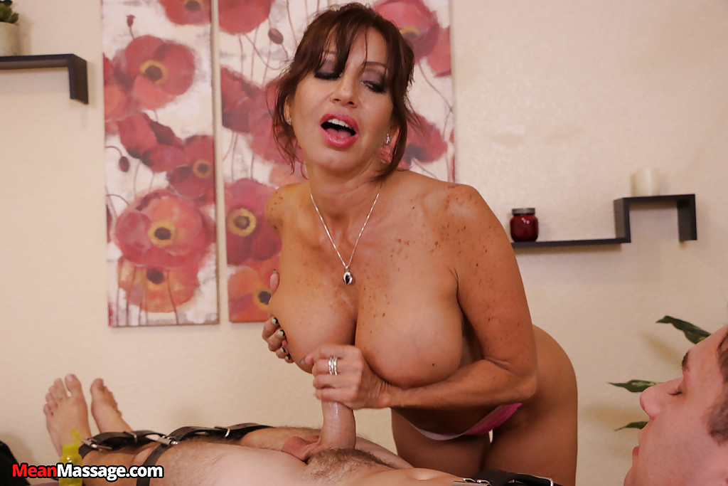 latina cougar cum - ... Busty Latina cougar gives young stud a cock jerking he won't forget ...