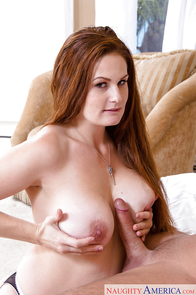 Mom sexy redhead sucks and fucks muscle man 2