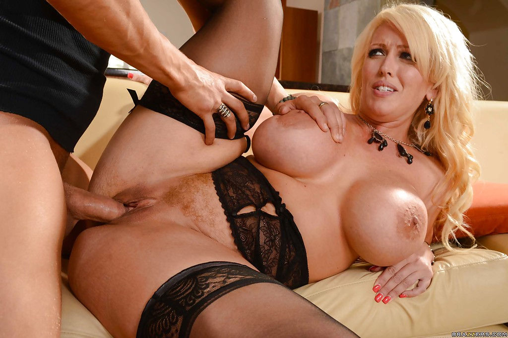 Alura Jenson In Black Stockings Gets Fucked By Handsome Man 1