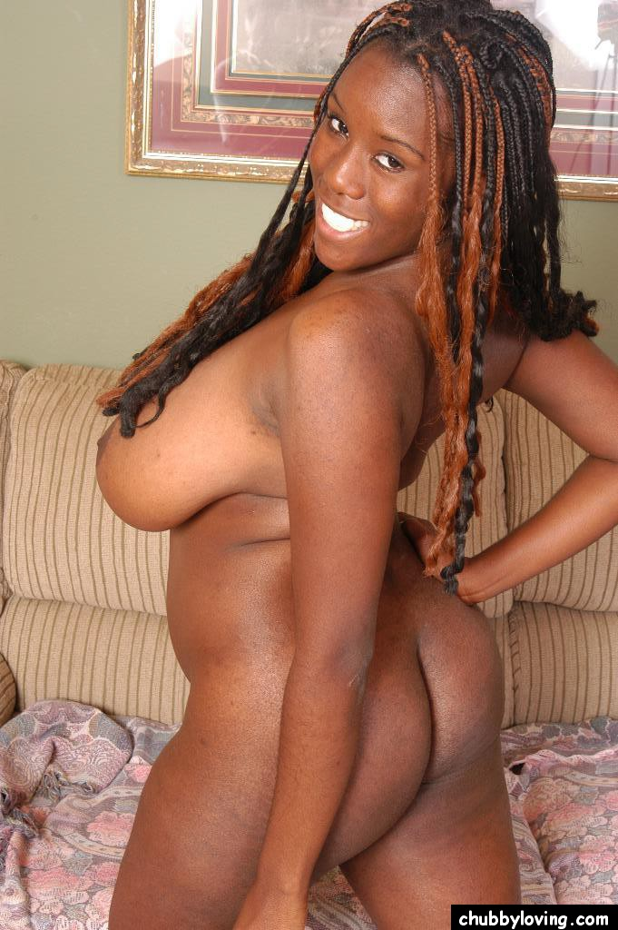 bbw breast black - ... Chubby black woman Diva exposing her huge all natural black boobs ...